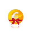 euro coin gift vector image