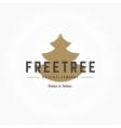 Fir Tree Hand Drawn Logo Template Design vector image