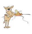 funny brown camel vector image