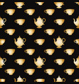 pattern with a gold cups vector image
