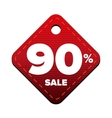 Sale ninety percent pricetag red vector image