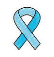 scribble awareness ribbon vector image