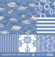 Sea backgrounds set summer maritime theme vector image