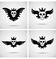 Skull with crown and wings vector image