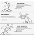 Airship tourism banner vector image