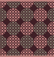 the pattern of circles and squares vector image