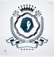 vintage emblem made in heraldic design with lion vector image