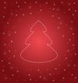 Shining Christmas tree on red vector image