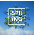 Spring background with blue flowers vector image vector image