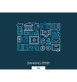 Banking integrated thin line symbols Modern vector image
