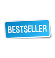 bestseller blue square sticker isolated on white vector image