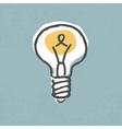 light bulb idea symbol vector image