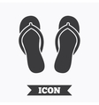 Flip-flops sign icon Beach shoes vector image