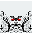 Elegant greeting card or invitation lace with red vector image