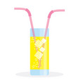 fresh summer drink vector image