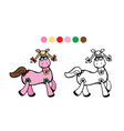 horsecolor black and white vector image
