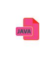 JAVA Icon vector image