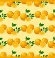 oranges seamless pattern background vector image