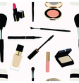Seamless Makeup and cosmetics vector image