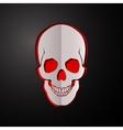skull cut paper skull vector image