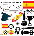 Spanish Grand Prix F1 vector image