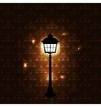 Vintage background with lantern vector image vector image