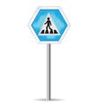 Road Sign Pedestrian Crossing vector image vector image