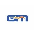 GM letter logo vector image