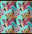 Memphis style hand drawn textured seamless pattern vector image