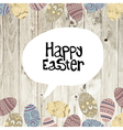 easter card wooden background vector image vector image