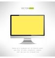 Realictic lcd monitor computer display Tv screen vector image