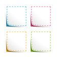 Set of Coupons with cut lines vector image vector image