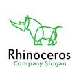 Rhinoceros Design vector image
