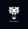 bengal white tiger logotype vector image