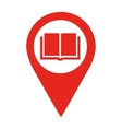 library location pin isolated icon design vector image