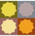 Decorative calligraphic frames set vector image
