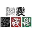 Abstract celtic gryphon vector image