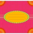 decorative oval frame vector image