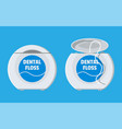 dental floss in box container thread for tooth vector image