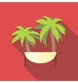Island icon flat style vector image