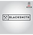 Logo for blacksmith typographic logotype badge vector image