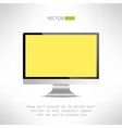 Realictic lcd monitor computer display Tv screen vector image
