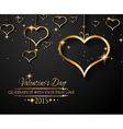 San Valentines Day background for dinner vector image