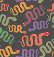 Snake seamless pattern background of desert vector image