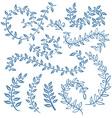 The set of hand drawn circular decorative elements vector image