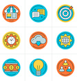 Thin Line Icon Set Flat Style Icons for Website vector image