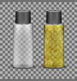 transparent plastic bottle for liquid cosmetic vector image