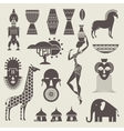 Africa icons vector image