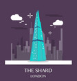 famous london landmark the shard vector image