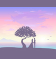 sunset love vector image vector image